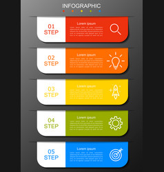infographic modern with five options 5 step vector image