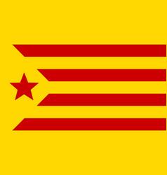 Informal flag of catalan lands red estelada vector