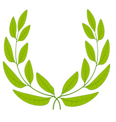 Laurel wreath green leaves icon sign symbol of vector