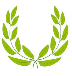 Laurel wreath green leaves icon sign symbol vector