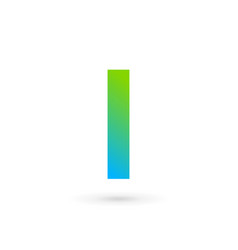 Letter i ribbon logo icon design template elements vector