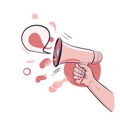 Loud speaker pr marketing vector
