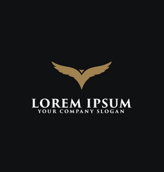 luxury bird logo design concept template design vector image