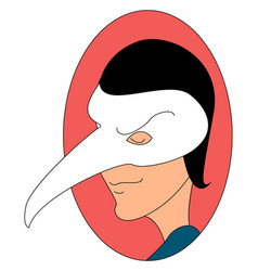man with doctor mask on white background vector image
