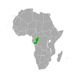 map republic congo in africa vector image
