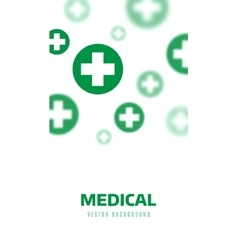 Medical background Blue and green crosses vector image