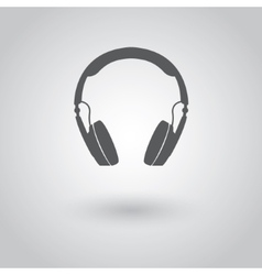 Modern headphones icon vector image