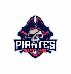 Modern professional emblem pirates for baseball vector