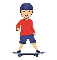 Of a boy skating vector