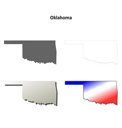 Oklahoma outline map set vector image