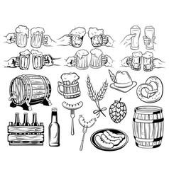 oktoberfest set collection elements vector image