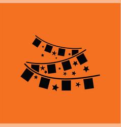 party garland icon vector image