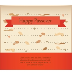 Passover invitation on matzoh background vector