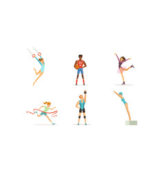 people doing different kind sports set male vector image