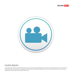 photo camera icon - white circle button vector image