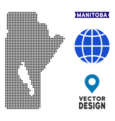 Pixelated manitoba province map vector