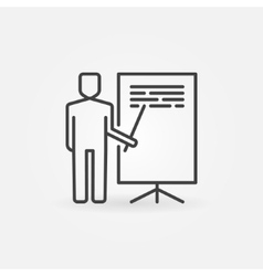 Presentation linear icon vector