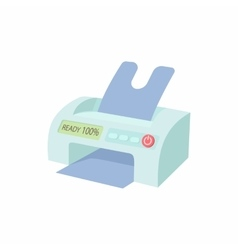 Printer icon in cartoon style vector