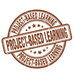 project-based learning brown grunge stamp vector image