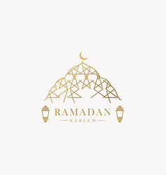 Ramadan kareem banner template design vector