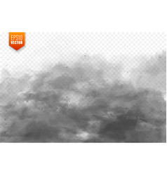 realistic dust clouds sand storm polluted dirty vector image