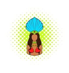 Samba girl icon comics style vector