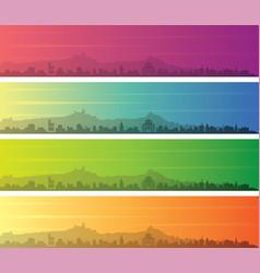 san marino multiple color gradient skyline banner vector image