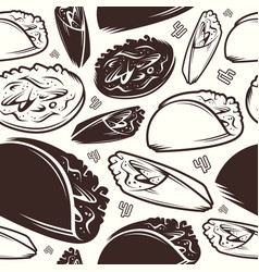 seamless pattern of mexican food vector image