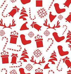 Seamless Vintage Christmas Pattern vector image