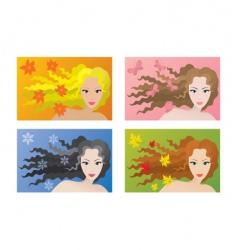 seasonal beauty vector image vector image