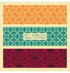 set arabic seamless patterns vector image
