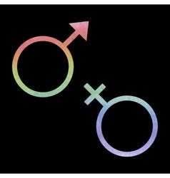Sex symbol watercolor effect vector
