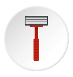 Shaver razor icon circle vector