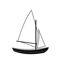 Ship yachts icon vector image