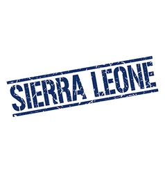 Sierra Leone blue square stamp vector