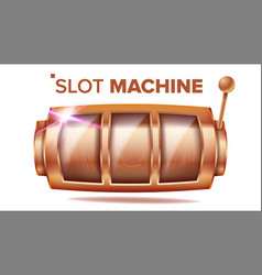 slot machine bronze lucky empty slot vector image
