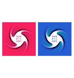 Symbol hurricane on red and blue background vector