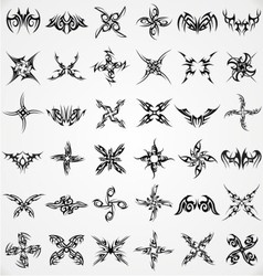 Tattoo shape elements vector