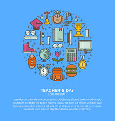 Teacher appreciation vector