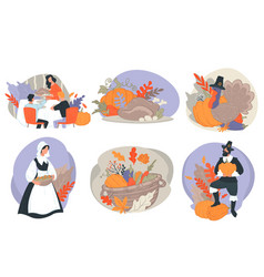 thanksgiving day american holidays traditions and vector image