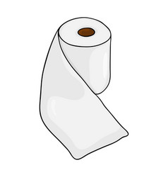toilet paper roll symbol icon design beautiful vector image