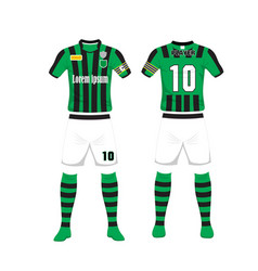 uniform of football sport design template sport vector image