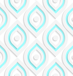 White vertical pointy ovals with dots seamless vector