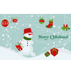 xmas children vector image