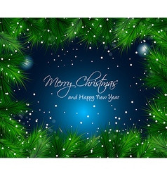Elegant Christmas Themed with snow vector image