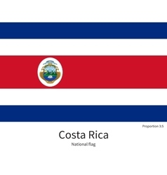 National flag of Costa Rica with correct vector image
