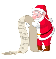 santa with list vector image vector image