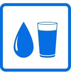 water drop and glass vector image