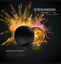 Beauty eye shadows ads vector