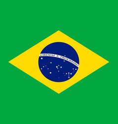 brazil flag background vector image